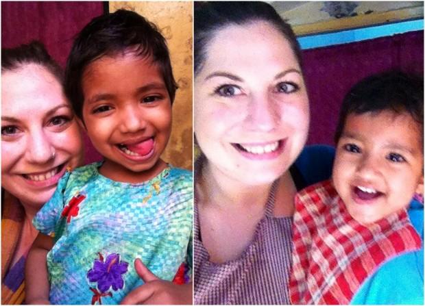 selfie spaß mit puja und anisha
