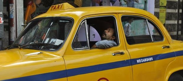 motivierte taxifahrer.