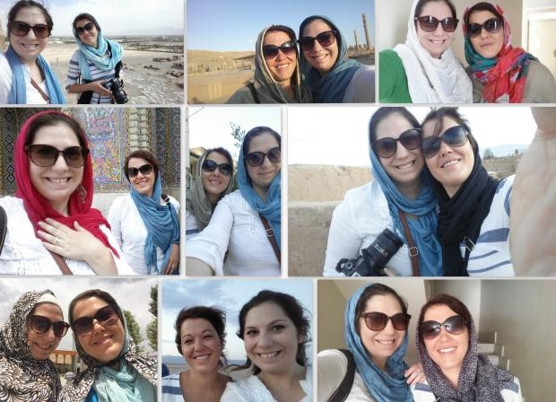 manchmal sogar ohne sonnenbrille und ohne hijab.